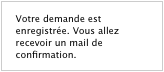 Le message de confirmation